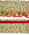 New APPLES red green gold vines window valance