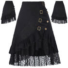 Womens Steampunk Gothic Vintage Lace Skirts High Waist  Gypsy Hippie Party Dress
