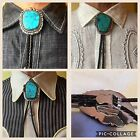 1930s 40s-70s Massive Turquoise Native American Indian South Western Bolo Tie