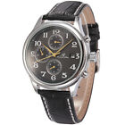 U.S.A KS Luxury Mens Date Day Brown Leather Automatic Mechanical Wrist Watch