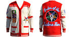 Order of the Eastern Star Cardigan sweater O.E.S Red Heavy weight Cardigan S-4X