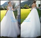 Sheer Long Sleeves Off Shoulder Wedding Dress Appliques Lace A-line Bridal Gown