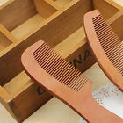 Natural Wide Tooth Peach Wood Sandalwood Massage Hair Care Comb Wooden Brush