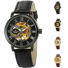 Steampunk Leather Skeleton Mechanical Military Sport Men's Wrist Watch 4 Colors