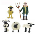 Shaun The Sheep 6 Miniatures Cake Topper/Toy PVC Figure Comansi Official New