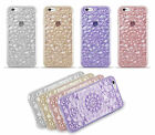 Pretty Crystal Paisley Floral Pattern Transparent Gel Case iPhone 5s/SE 6/s