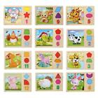 3D Wooden Tangram Chinese Zodiac Signs Jigsaw Puzzle Kid Child Developmental Toy