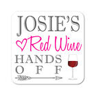 Personalised Red Wine White Wine Wooden Gift Coaster Mat Present