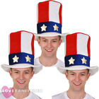 PACK OF UNCLE SAM TOP HATS LOT USA 4TH JULY FANCY DRESS PARTY EVENT AMERICAN