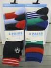 Boys RJM Accessories Patterned Ankle Socks with Stretch 3 Pairs