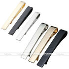 Classic Simple Men's Mirror Tie Clip Skinny Thin Steel Necktie Pin Bar Clasp