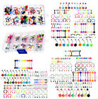 100pc Lot UV Steel Bar Tongue Eyebrow Navel Belly Lip Labret Nose Ring Piercing