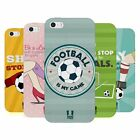 HEAD CASE DESIGNS FOOTBALL STATEMENTS SOFT GEL CASE FOR APPLE iPHONE 5 5S SE