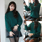 Women Loose Long Sleeve Jumper Sweater Ladies Casual Knitwear Tops Candy Color ❤
