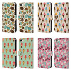 HEAD CASE DESIGNS ICE CREAM PATTERNS LEATHER BOOK CASE FOR APPLE iPHONE 5C