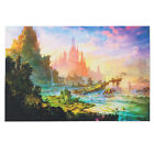 Psychedelic Trippy Construction Silk Poster Art Fabric Castle Print 36x24'' Wall