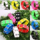 Punk Rock Stainless Steel Studs Spikes Soft Silicone Cuff Bracelet Wrist Bangle