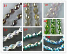 70 Crystal Rice Shaped Gemstone Loose Beads 9x6mm 7colors-1 K61