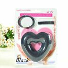 Sponget Foam Heart Donut Shaped Bun Wraps Hair Ring Clip Set Hair Updo Maker