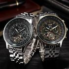 2 Color JARAGAR Luxury Automatic Day Date Steel Band Mens Mechanical Wrist Watch