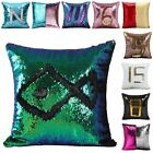 Magic Mermaid Sequin Cushion Cover Glitter Throw Pillow Case Reversible Pattern