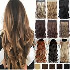 Thick One Piece Ombre Clip in Hair extensions Long Straight Synthetic Hair UK NH