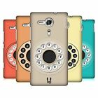 HEAD CASE DESIGNS RETRO PHONES HARD BACK CASE FOR SONY XPERIA SP / C5302 / C5303