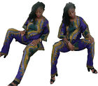 Woomen Dashiki African Print Tops Pants Hippie Shirt Trousers Party Dress