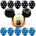 """27""""HUGE Mickey Mouse Head Foil Balloon Latex Shower Birthday Party Supplies lot"""