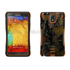 Samsung Galaxy Note 3 III Case - Hybrid Design Hard+Skin Kickstand Cover+Sticker