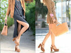 Rare! NWT ZARA Whiskey Real Leather Suede Platform Ankle Strap Sandals 6616/001 for sale  Huntington