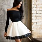 SHORT PARTY DRESS MINI ABITO BLACK/WHITE