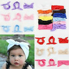 Toddler  Kids Baby Rabbit Bow Hairband Headband Stretch Turban Knot Head Wrap