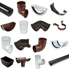 Round Guttering and Downpipe - Gutter and Pipe Fittings - Brown / White / Black
