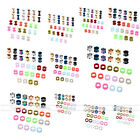 28pc Horn Flesh Tunnels Ear Expander Stretch Plugs Body Piercing Gauge Set Hot
