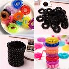 10X  Colorful Elastic Rubber Hair Ties Band Rope Ponytail Holder for Girls Women