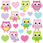 Children's Cute Pink Owl Wall Stickers CheekyBabyOwls Owls.4.M