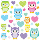 Children's Cute Pink Owl Wall Stickers MoonOwls Owls.9.L