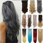 Full Head 8 piece Tape Women Clip in Long 24 inch Curly Hair Extensions Remy RF5