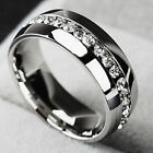 Stainless Steel Titanium Ring  Men Women Wedding Engagement Band Silver Size6-12