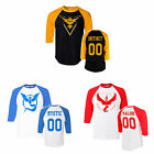 Pokemon Go Team Valor Team Mystic Team Instinct Pokeball nerd Black T- Shirt New