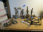 Vintage Meat Grinders and Handles and Bag of Assorted Attachments