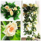 Nice 8.2ft Artificial Rose Silk Flower Rattan Vine Ivy For Wedding Arches Decor