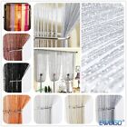 New Glitter String Curtain Panels Fly Screen & Room Divider Voile Net Curtains
