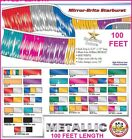 Metallic Streamers 100 Feet - Choose Your Color