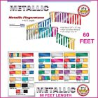 Metallic Pennant Flag Streamers - Fingerstone - Choose Your Color - 60ft - #em60