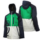 NOMIS Mens 2013 Snowboard Darkest Blue / Smoke / Celtic Green TRUE ICON JACKET