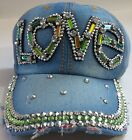 Denim Rhinestone Crystal Baseball Caps Ladies Fashion Accessories Ltd Edtn B lot