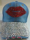 Denim Rhinestone Crystal Baseball Caps Ladies Fashion Accessories Ltd Edtn I lot