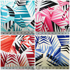 Discount Fabric Printed Lycra Spandex Stretch Choose Your Color Bamboo leaves PS